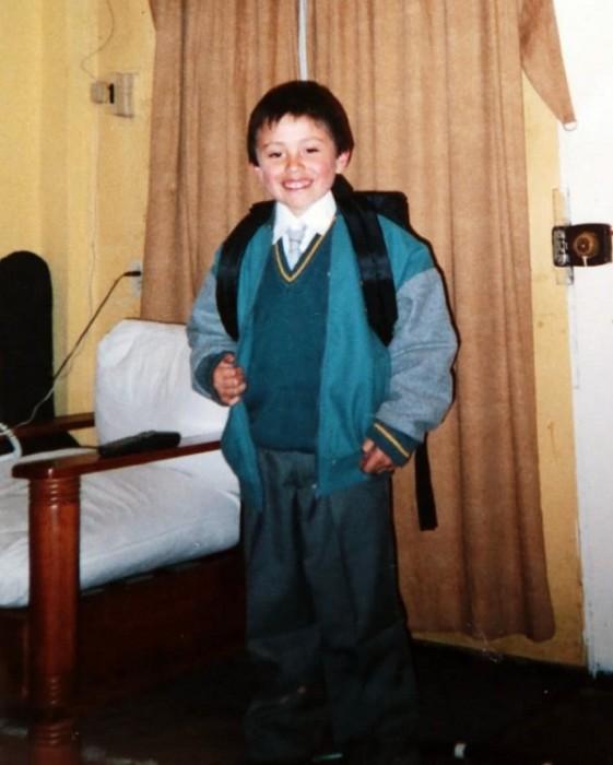 nico gavilan cuando era niño