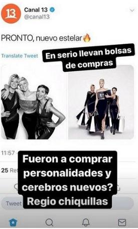 Jani Dueñas se burló del nuevo estelas de Canal 13