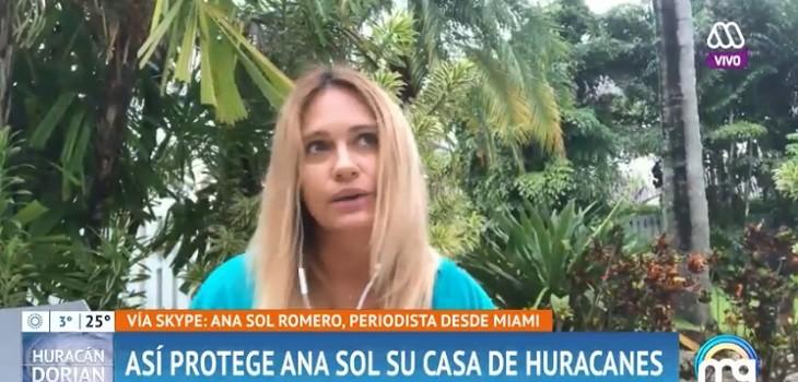 Ana Sol Romero mostró lo que hizo en su casa para protegerla de huracán: colocó cortinas antihuracanes
