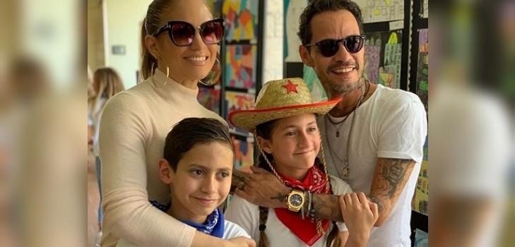 Jennifer López compartió video donde muestra el talento musical que tienen sus hijos con Marc Anthony