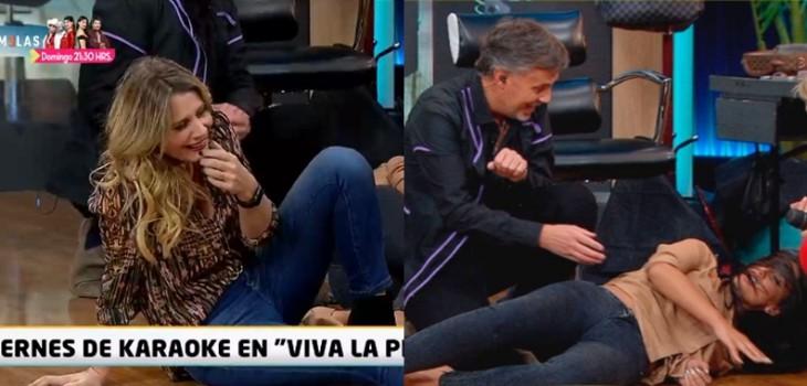 Rocío Marengo se cayó (otra vez) en 'Viva la pipol': ahora lo hizo en compañía de Pamela Díaz