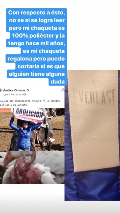 """Usuaria troleó a Eliana Albasetti por """"inconsecuente"""" tras su protesta en rodeo: ella le respondió"""