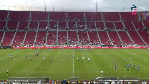 estadio vacío en partido chile-argentina
