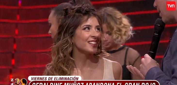 geraldine muñoz eliminada de Rojo