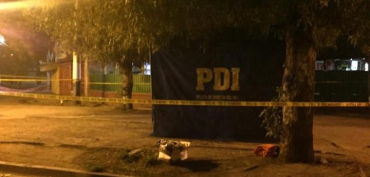 Hombre murió tras ser baleado en plena calle en Conchalí