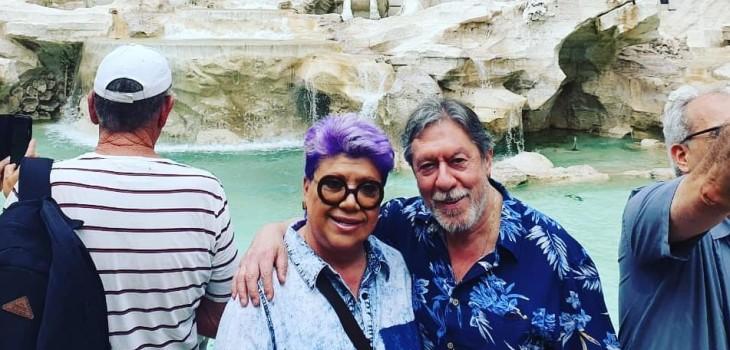 Patricia Maldonado compartió hilarante foto junto a su 'doble' en Italia