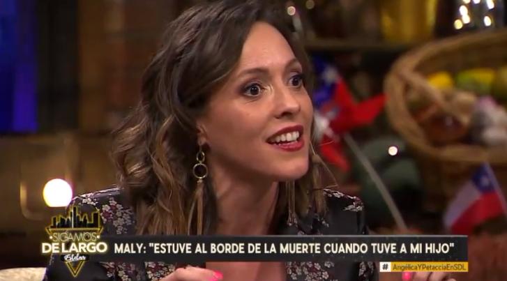 Maly Jorquiera reveló crítico episodio que vivió en parto de su hijo