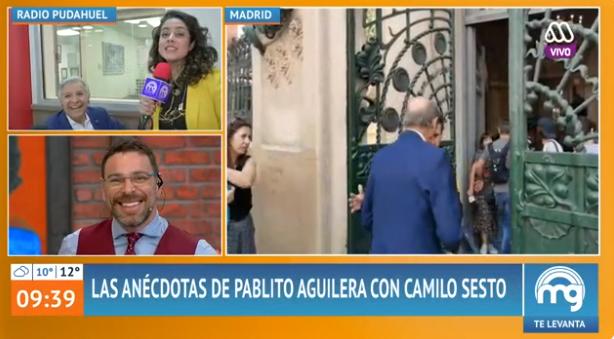 periodista Carolina Cárcamo debutó como notera en Mucho Gusto