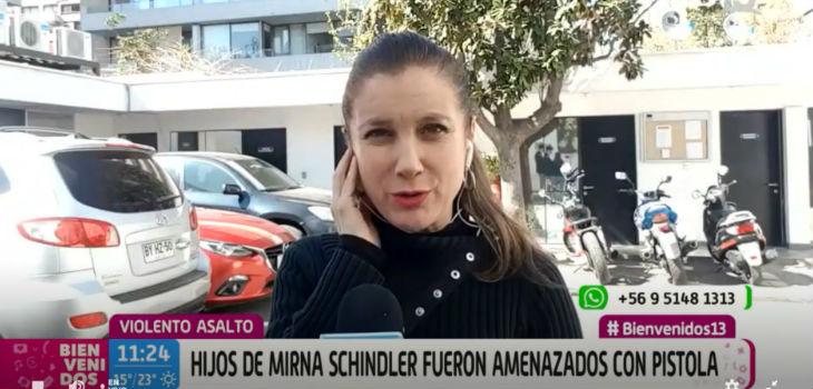 Mirna Schindler relató terrible asalto a sus hijos