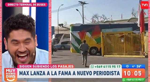 joven perdió el bus