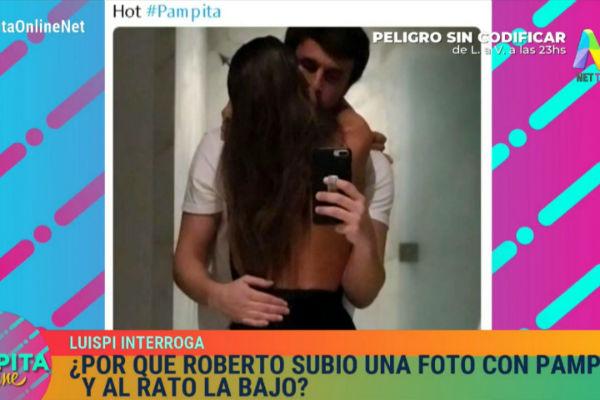 ¿Por qué Roberto García Moritán borró su foto besándose con Pampita?