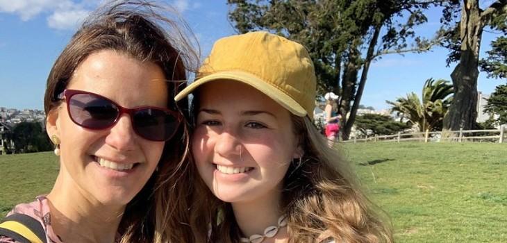 El susto de Pata Larraín en viaje con su hija