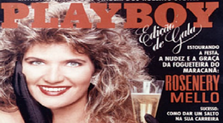 rosenery posando en la portada revista playboy