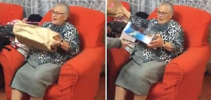 nieta regaló muñeca a abuelita