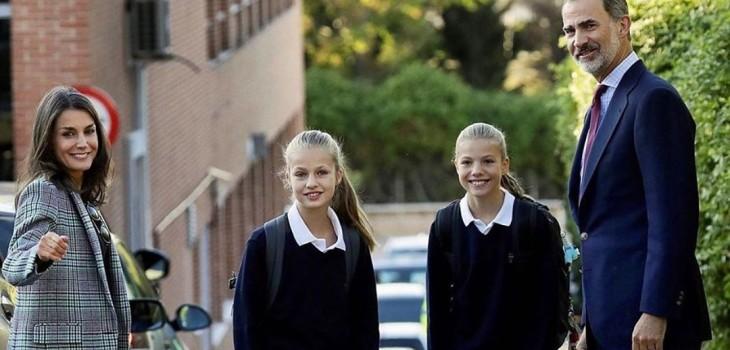 El colegio privado de las princesas Leonor y Sofía de España es más barato que uno de elite de Chile