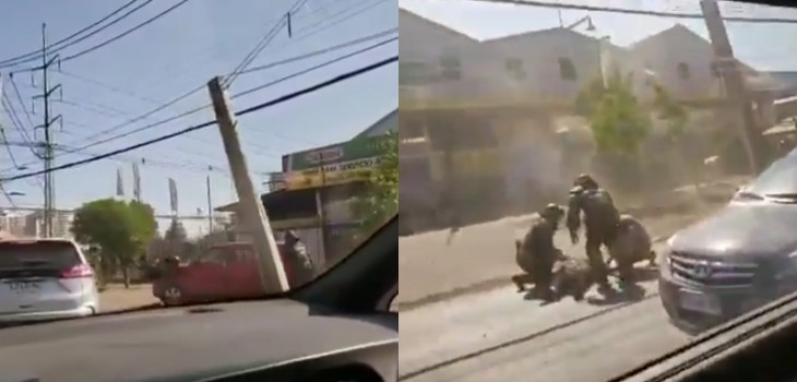 Video muestra atropello de carabinero en Macul: autor del hecho escapó