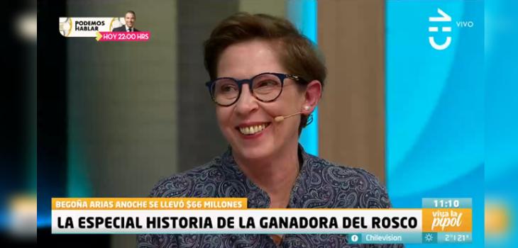 Begoña Arias contó qué hará con el premio de