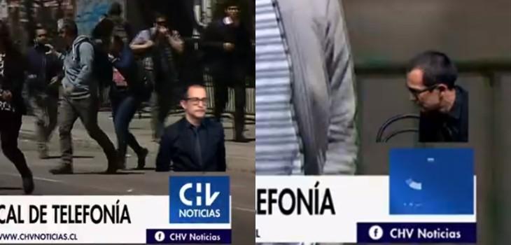Intérprete de lengua de señas se fue en medio de transmisión en CHV