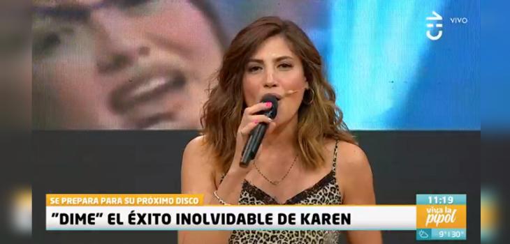 Karen Bejanaro cantó en Viva la Pipol y confundió a televidentes