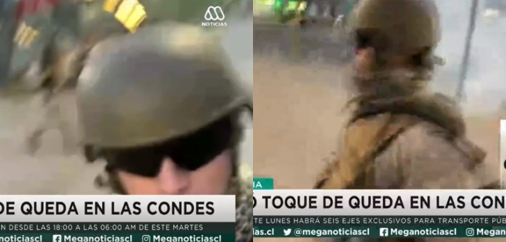 Camarógrafo de Mega fue encarado violentamente por militar:
