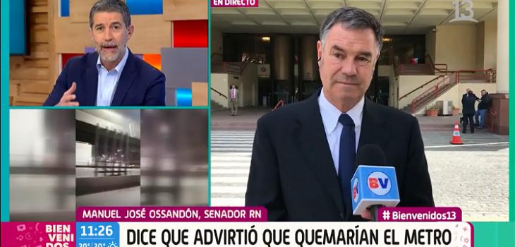 Senador Ossandón reveló que le avisó a Piñera que iban a quemar el Metro: