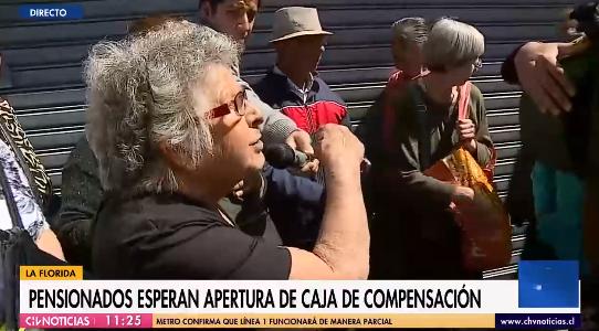 abuelita relató complejo momento que vive tras no poder cobrar su pensión