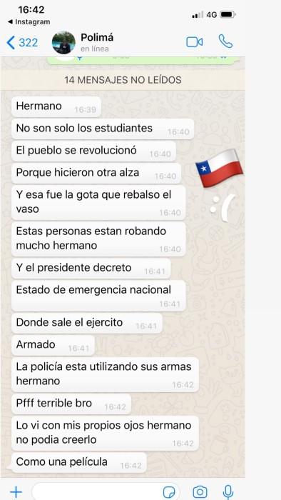 Artistas internacionales reaccionan ante manifestaciones en Chile