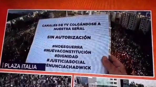 Canal 13 sufrió queja en vivo durante noticiero