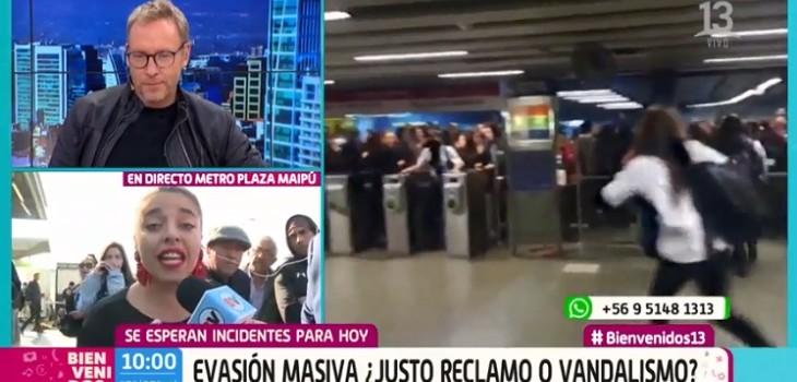 Usuaria entrevistada en Bienvenidps sacó aplausos tras explicar la causa de la evasión: Martín la invitó al matinal