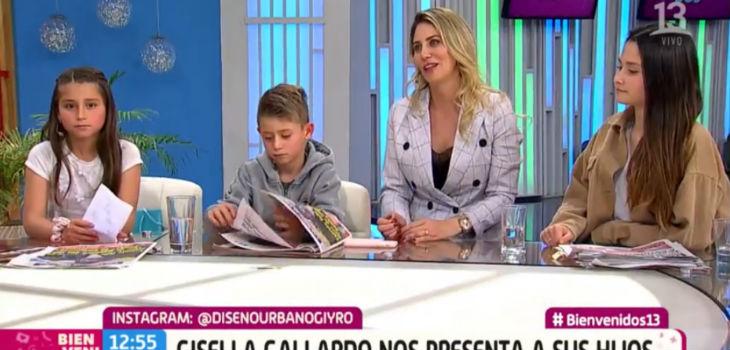 Gissella Gallardo presentó a sus hijos