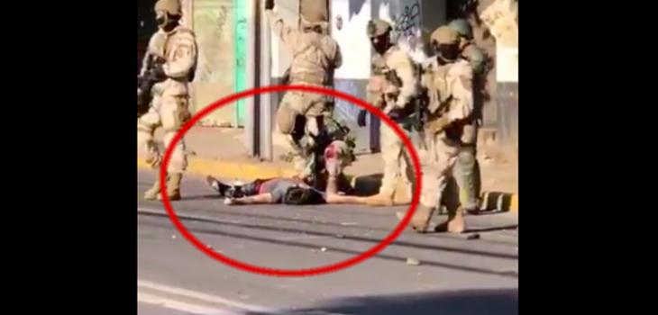 Crudos videos muestra a joven herido e inconsciente durante enfrentamiento con militares en Colina