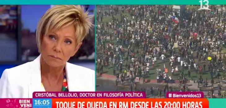 Comentario de Raquel Argandoña en 'Bienvenidos' por manifestaciones recibió amplio apoyo en redes