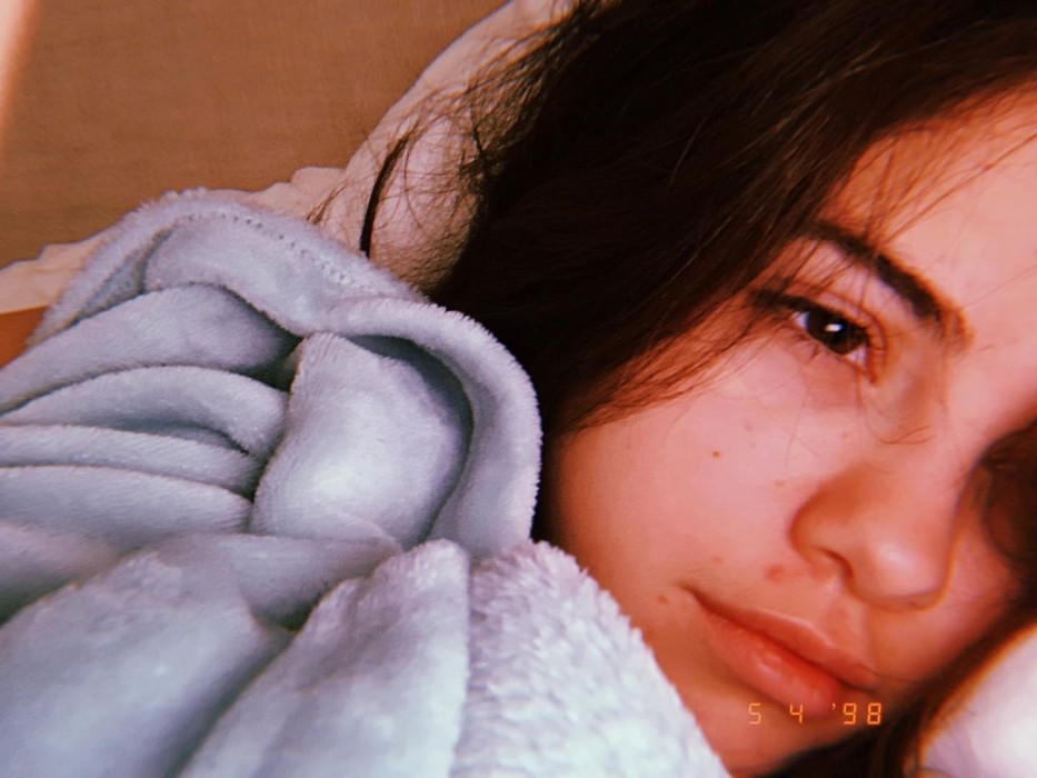 Fotografía de Selena Gomez al natural