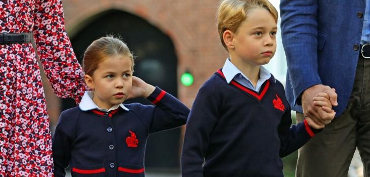 George se pelea con Charlotte como cualquier otro niño, y así lo frena el príncipe William