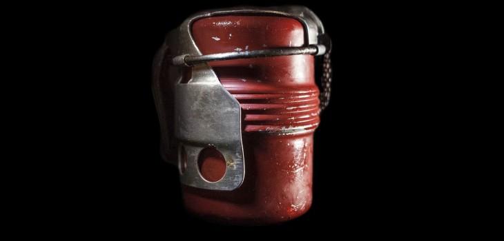 Este es un ejemplo del tipo de granada que recogió Marzolino. (Mattia Crocetti)