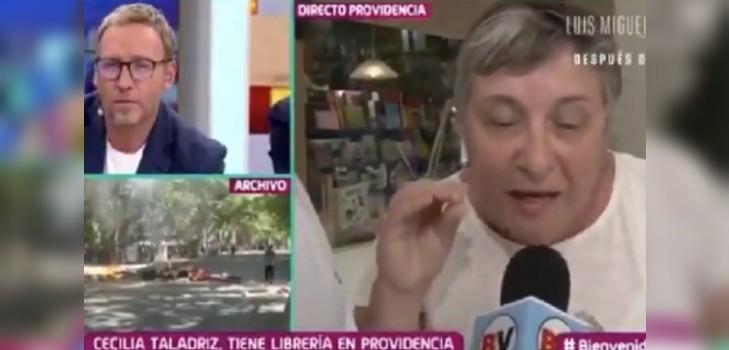 Locataria de Providencia habló en Bienvenidos tras saqueos: