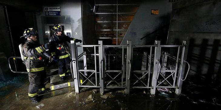 PDI detiene a adolescente acusado de participar en el incendio de la estación Pedrero del Metro