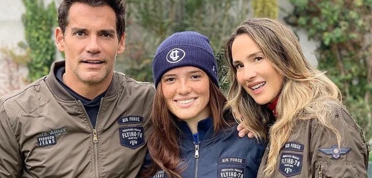 Angélica Castro y Cristian de la Fuente comparten debut e su hija Laura como actriz de cine