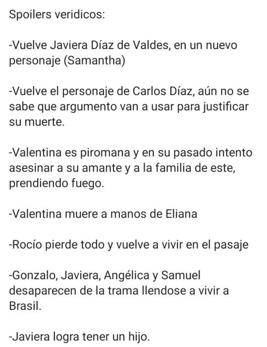 Supuestos spoilers de Verdades Ocultas develan trágico final de Valentina y salida de 4 personajes