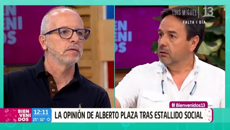 El fuerte enfrentamiento de Claudio Arredondo y Alberto Plaza en Bienvenidos