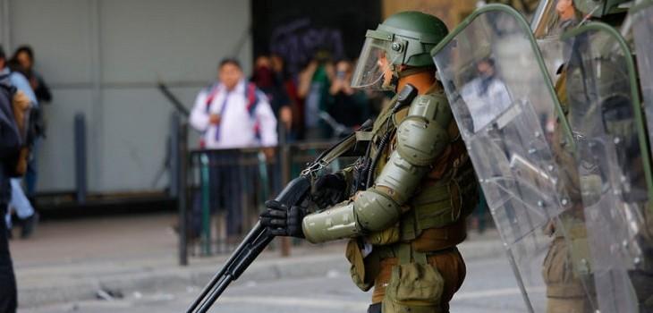 carabineros escopeta antidisturbios