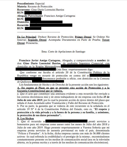 """Gino Lorenzini aseguró que se fue de Chile tras estar 2 meses bajo amenazas: """"Fue muy fuerte"""""""