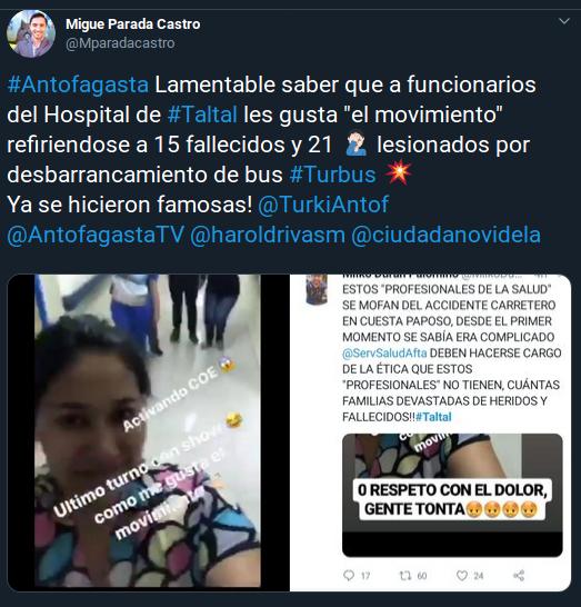 hospital previo a accidente de Taltal