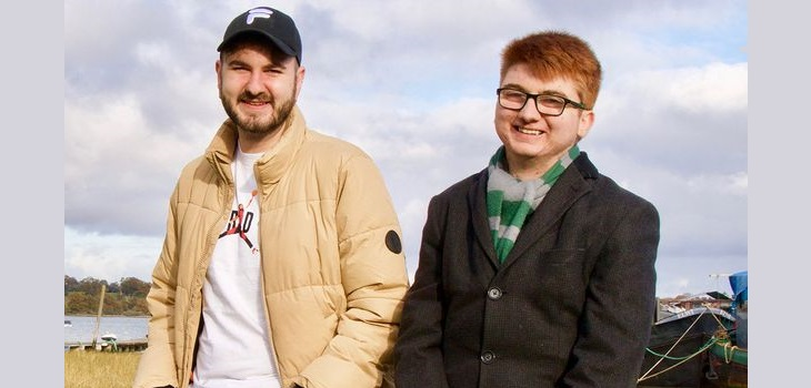 Hermanos Davies después del trasplante