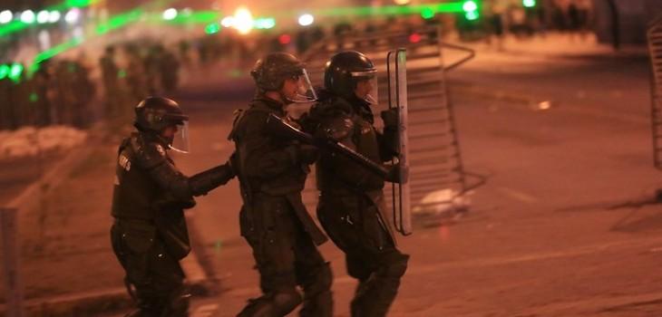Viernes de disturbios en Chile