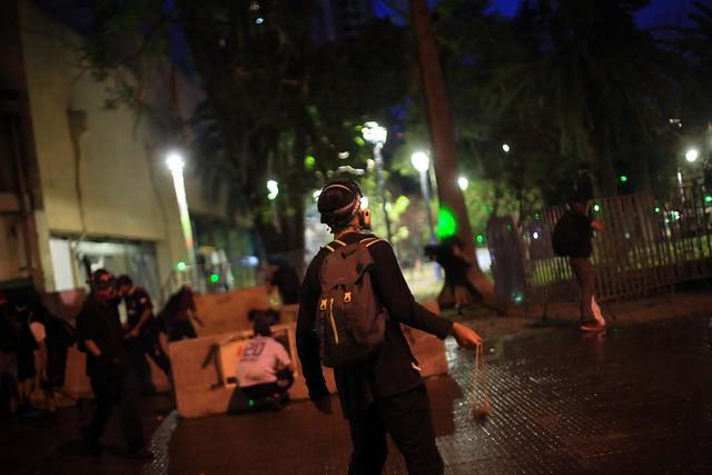 Disturbios en el día 50 de manifestaciones en Chile