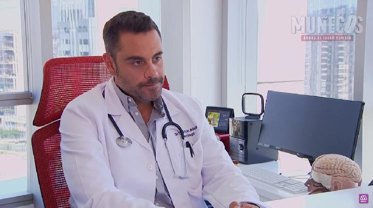 La consulta médica de Verdades Ocultas que se ha repetido en otas producciones de Mega