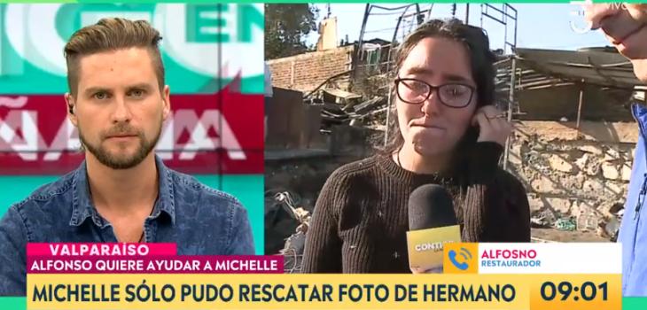 Mujer logró rescatar fotos de hermano fallecido tras incendio en Valparaíso: recibió emotiva ayuda