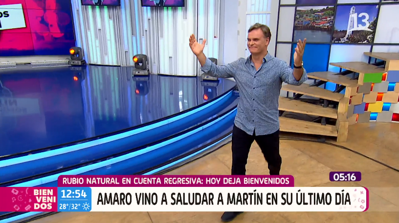 Amaro se despide de Martín