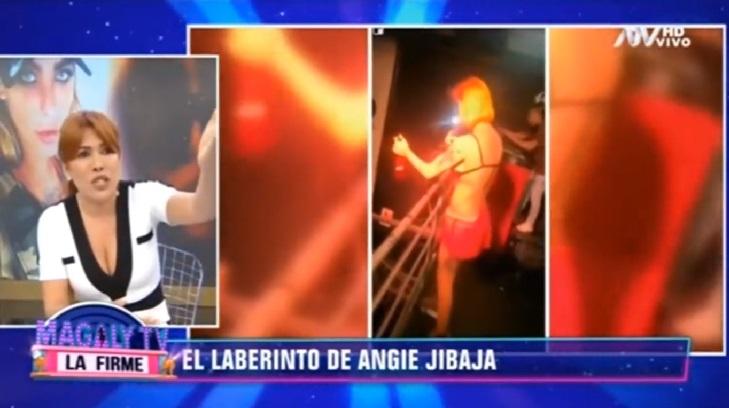 angie jibaja sufre accidente en disco